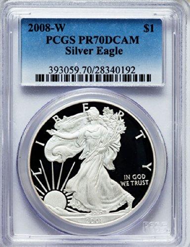 2008 W American Silver Eagle Dollar DCAM PCGS PR70
