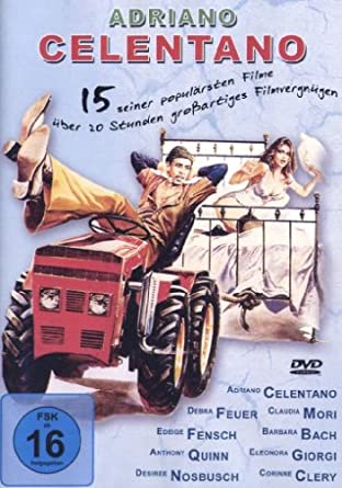 Adriano Celentano Box 15 Filme 5 Dvds Amazon De Adriano
