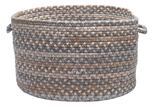 Oak Harbour Utility Basket, 18 by 12-Inch, Graphite Gray