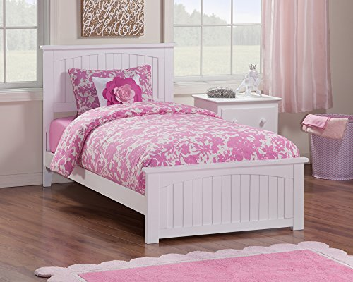 Bed Twin Cottage (Nantucket Bed with Matching Foot Board, Twin, White)
