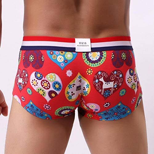 rojas Calzoncillos Calzoncillos Boxer para hombre Hipster baratos suaves estampados Bragas Premium Aimee7 rrx5qwvY