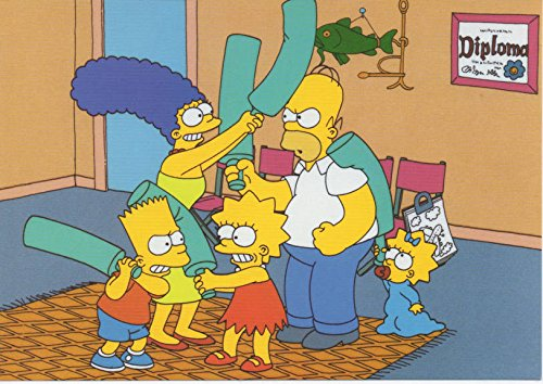 """The Simpsons in """"Bats Entertainment"""". Ltd Print Matted"""