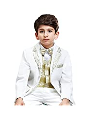 HAOYU Children Six-piece Suit (Brazer+Vest+Shirt+Pants+Bow Tie+Girdle)