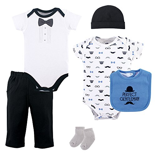 Hudson Baby Unisex Baby Layette, Perfect Gentleman, 6-Piece Set, 3-6 Months ()