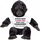 Angelique I Love You More Than Harambe: Small Plush Gorilla