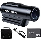 "Contour ROAM3 Action Cam Ready For Adventure Bundle - Includes Camera, Telescopic 43"" Selfie Stick, 32 GB Micro SD Memory Card, Compact Deluxe Gadget Bag"