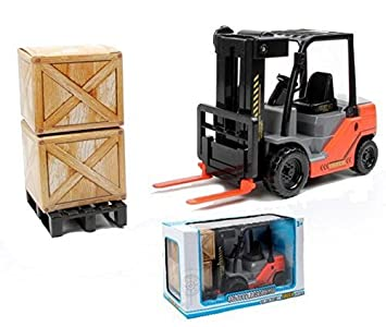 amazon 1 22 scale friction fork lift with pallets warehouse truck