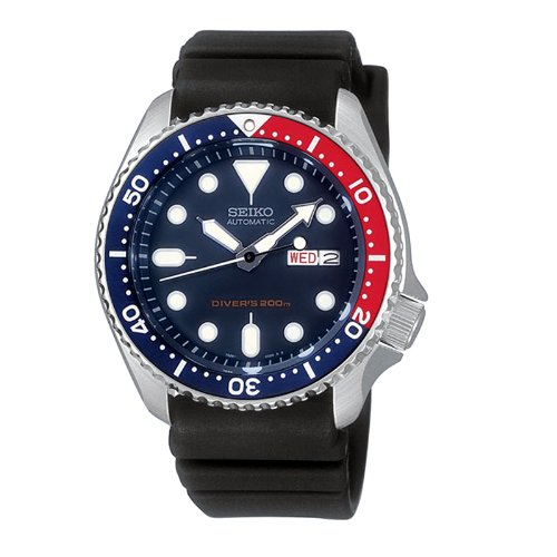 Men-Seiko-SKX009K-Dive-Automatic-200m-Diving-watch-Rubber-Band