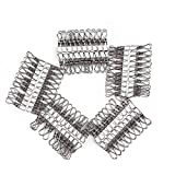 Tebery 2.2 inch Stainless Steel Cloth Pin Clothes Drying Hanger, Wire Laundry Clip, Hooks for Home/Office (100 Pack)