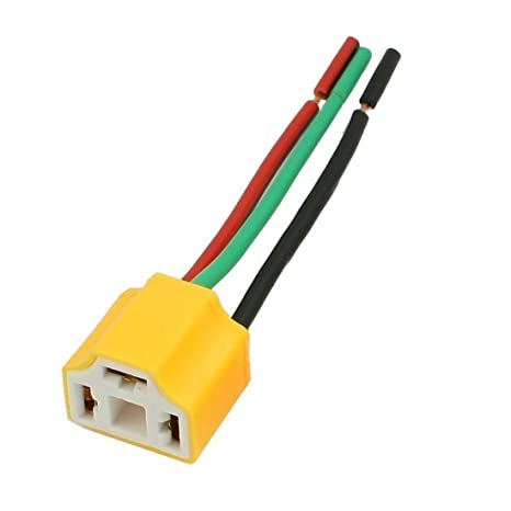 514xxUTpWSL._SX466_ amazon com 2 pcs h4 9003 hb2 female ceramic wire harness h11 wiring harness autozone at gsmx.co