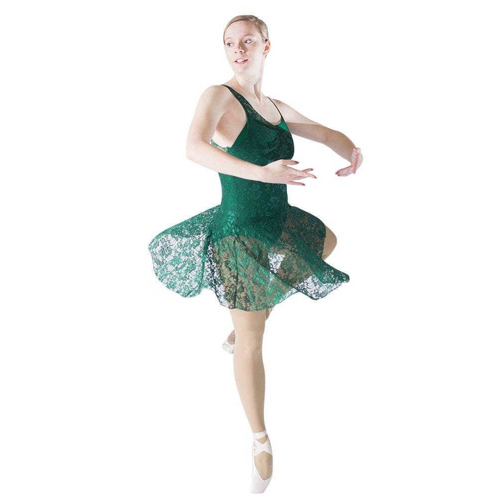 584b94be7 Amazon.com: HDW DANCE Women Contemporary Lyrical Dance Dress Lace Overlay  Nylon Lycra Boysuit: Clothing