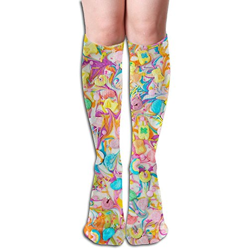 Unisex Knee High Long Socks Lucky Charms Chocolate Over Calf Casual Sport Stocking Cotton