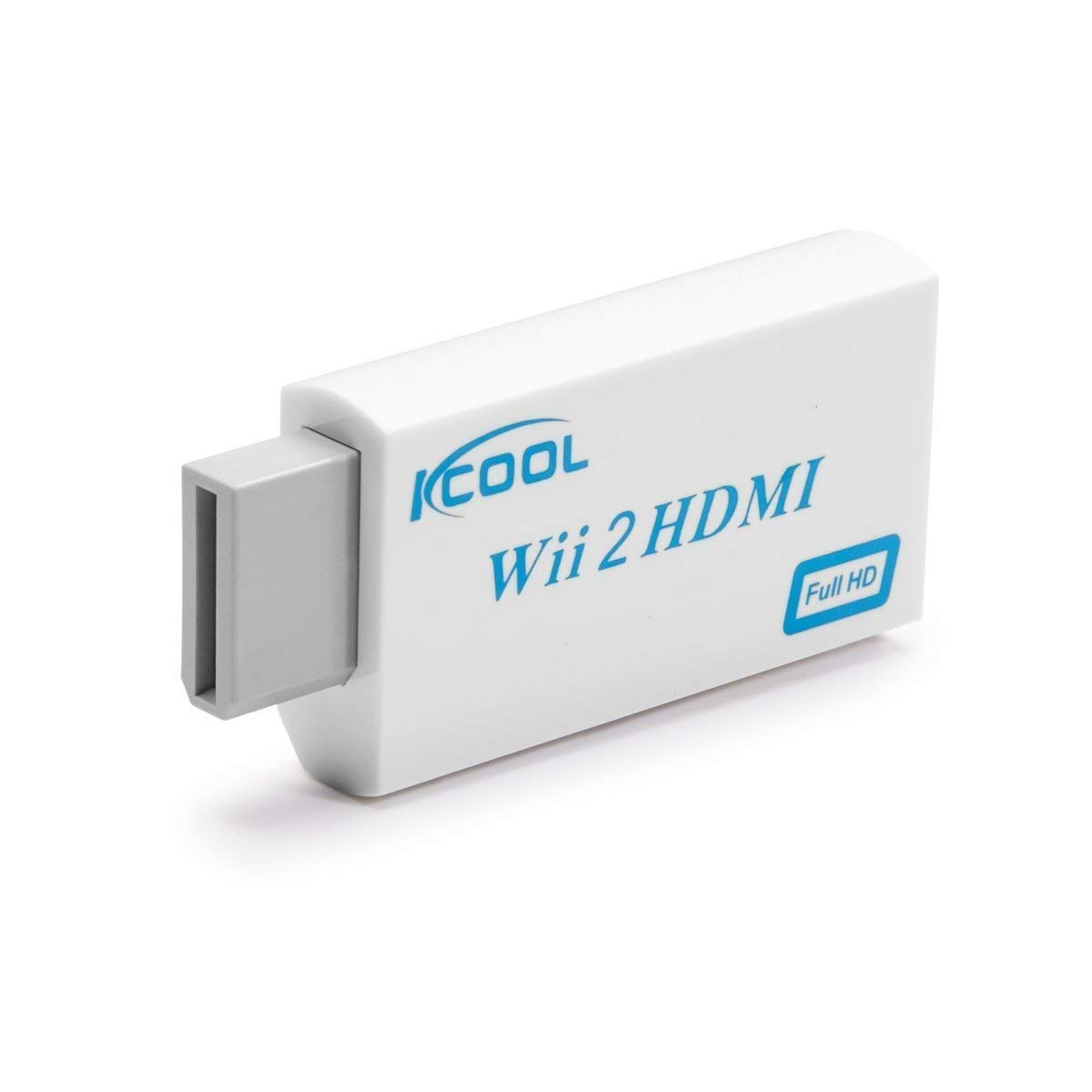 IKCOOL Wii to HDMI Converter Output Video Audio Adapter - Supports All Wii Display Modes (NTSC 480I, 480P,PAL 576I), Best Compatibility and Stability (1)