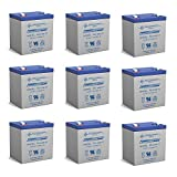 rbc 8000 - Powersonic 12V 5AH Battery Replaces Eagal 8000/8000DL Control Panel - 9 Pack