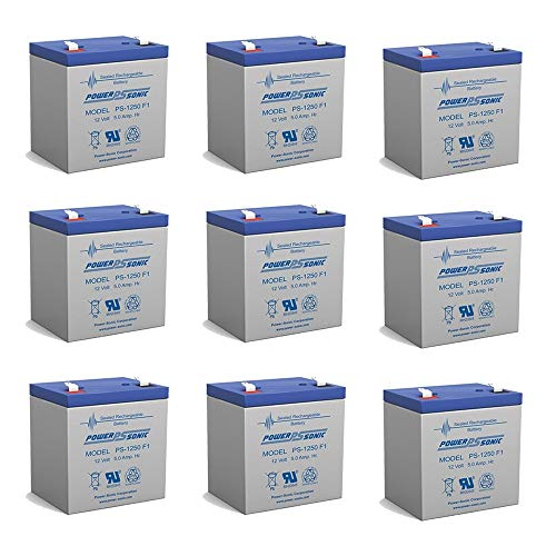 Powersonic 12V 5AH SLA Battery Replacement for Compaq R6000 UPS - 9 Pack ()