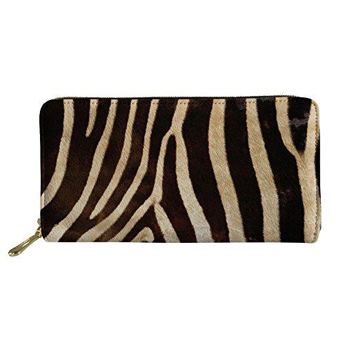 Mumeson Animal Fur Pattern Women Long Wallet PU Leather Clutch Bag Storage Purse,Zebra ()