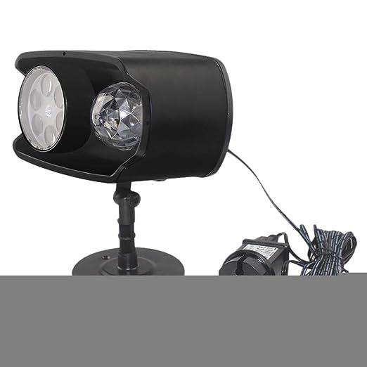 F Fityle Luces Proyector Navidad LED, Cabeza Doble Lámpara de ...