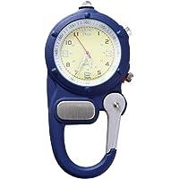 Baluue Reloj con Clip de mosquetón - Reloj de Cuarzo Clip en Mosquetón Reloj de Bolsillo para Enfermeras Y Médicos con…