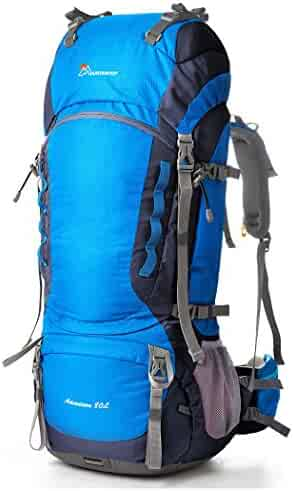 Mountaintop 75L-80L Internal Frame Backpack Hiking Backpack with Rain Cover ad8ed10c5d644