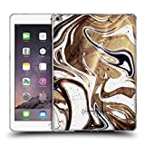 Official Nature Magick Coffee Luxe Gold Marble Metallic Soft Gel Case Compatible for iPad Air 2 (2014)