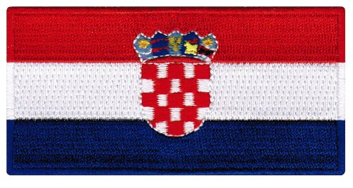 Croatia Flag Embroidered Patch Iron-On Croatian National Emb