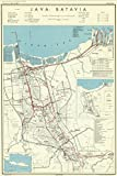 Historic Map | Java, Indonesia 1945 | Java : Batavia | Antique Vintage Reproduction 24in x 36in