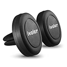 Cell Phone Holder, iVoler Car Mount with Universal Air Vent Magnetic Technology for iPhone 7/ 7Plus/ 6/ 6s/ 6Plus/ SE/ 5S/ 5C, Samsung Galaxy S7/ S7 Edge/ S6/ S6 Edge/ S5/ j5/ A5/ A3/ J7 2016 /S8 plus/ S8,LG LG, Huawei P9 Lite/ P8 Lite/ Honor 5c, Nexus 6P/ 5X, Google Pixel/ Pixel XL, LG G5/ V20, Nokia, Sony Xperia, Moto, HTC, Xiaomi, iPod, BQ Aquaris X5 Plus and more.