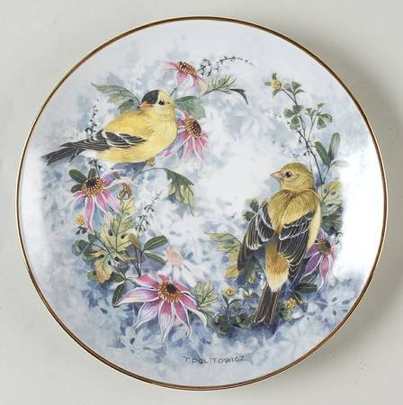 - Franklin Mint Heirloom Recommendation Autumn Concerto Collectible Plate by Theresa Politowicz
