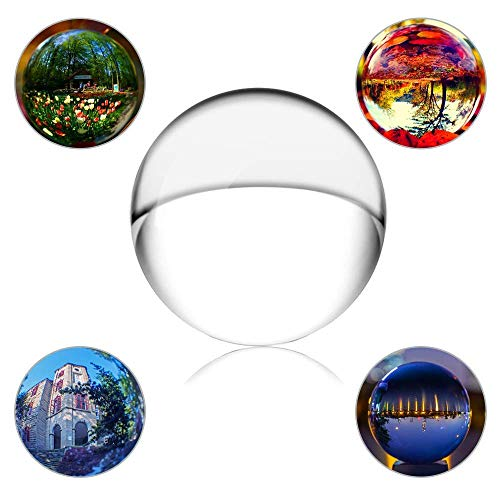SunAngel Clear Crystal Ball, Art Decor K9 Crystal Prop for Sphere Photography Decoration (50MM, Clear) -