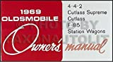 1969 Olds Reprint Owner's Manual 442, Cutlass, Supreme, Wagon & F-85
