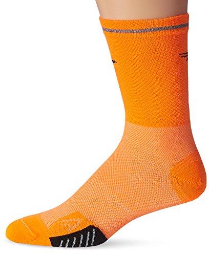 Defeet Cyclismo Thermocool with Reflective Socks, Hi-Vis Orange, Small