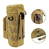 Ultra-light Molle Compatible Water Bottle Pouch Brand New High Quality Polyester Body Durable Zipper Closure Flip Top Coyote for Outdoor Activity Using Khaki