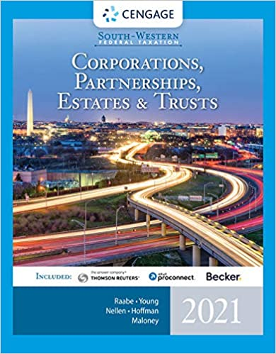 South-Western Federal Taxation 2021: Corporations, Partnerships, Estates and Trusts, 44th Edition - Original PDF
