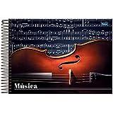 Caderno de Música 1/4 Espiral 96 Folhas Capa Dura Foroni