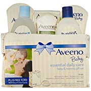 Aveeno Baby Gift Set, Daily Care Essentials Basket, Baby and Mommy Gift Set by Aveeno Baby