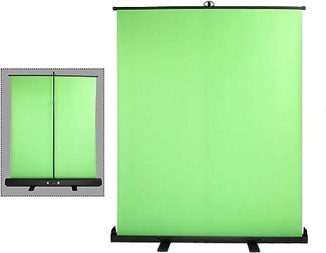Sheng - Pantalla Larga Plegable de cromakey Verde para Fondo de fotografía, Estudio de vídeo, eliminación de Fondo, grabación de vídeo, transmisión en Vivo de Maquillaje (1,48 x 1,8 m): Amazon.es: Electrónica