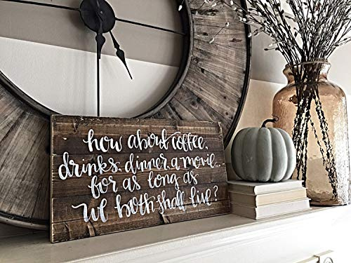 WoodSign MarthaFox Wedding Decor Youve Got Mail Quote Movie Quotes Home Decor Custom Order SOGN Hand Painted