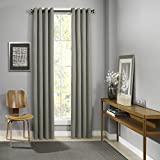Eclipse Palisade Blackout Grommet Window Curtain, 52″ x 84″, Sage Review