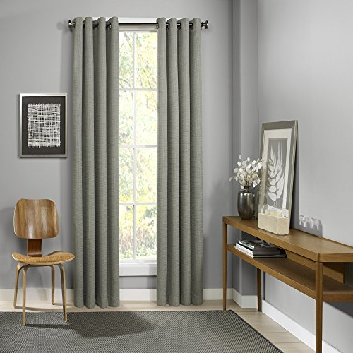 Cheap Eclipse Palisade Grommet Single Window Curtain Panel, 52″ x 108″, Sage