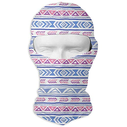 Ride Beanie Diamond - Boho Native American Cute Diamond Stripe Motorcycle Face Mask Sport Headwear Multi-Functional Bandana
