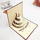Olovecard 3D Pop up Birthday Cards Greeting Gift Card Cake with Envelope