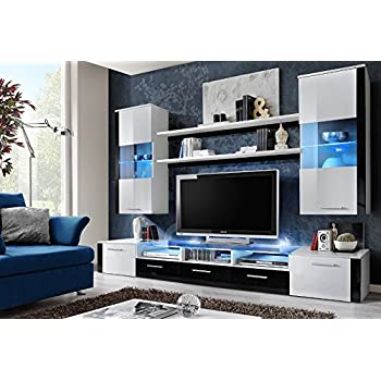 FRESH Modern Wall Unit Entertainment Centre Spacious And Elegant Furniture Tv Cabinets Stand For Living Room High Capacity
