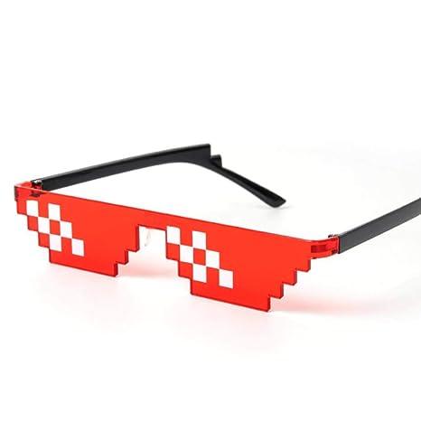 Mash Gordo Thug Life Gafas Gafas de Sol Pixeladas Hombres ...