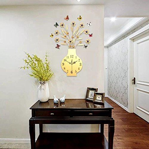 3D Big Vase Wall Clock Modern Design Living Room Wall Watche