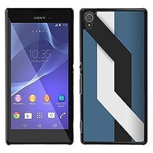 // PHONE CASE GIFT // Duro Estuche protector PC Cáscara Plástico Carcasa Funda Hard Protective Case for Sony Xperia T3 / Líneas /