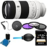 Sony 70-200mm F4 G OIS Interchangeable Lens for Sony Alpha Cameras Bundle