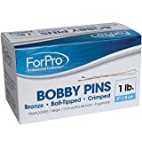 ForPro Bobby Pins, Brown, 1 Pound