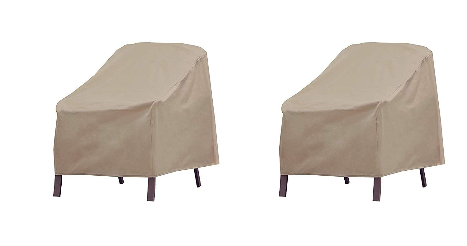 Modern Leisure Patio Furniture Chair Cover, Weather & Waterproof Patio Chair Cover (Pack of 2)