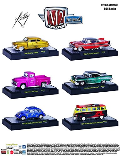 M2 Machines Auto-Dreams Tom Kelly Collection Series 2 - 6 Car Set - 32500 -WMTS05