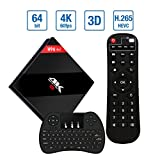 EstgoSZ Android 7.1 TV BOX 3GB RAM 32G ROM with Wireless keyboard, 2018 Model H96 Pro plus Amlogic S912 Octa Core Android TV BOX With Dual WiFi Bluetooth 4.1 1000M LAN
